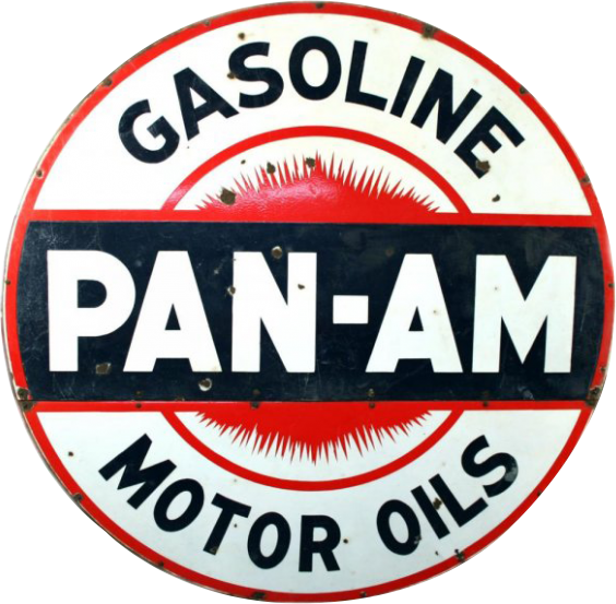 10 Pan Am Motor Oils Gasoline Porcelain Sign 1