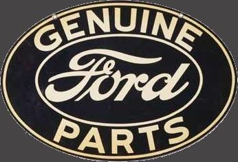 101 Genuine Ford Parts Oval Porcelain Sign 2