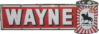 103 Wayne Feeds Long Die Cut Porcelain Sign 1