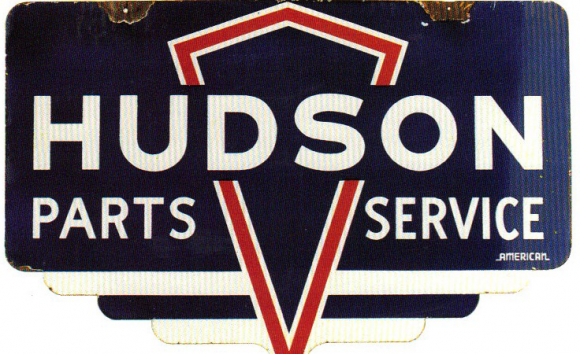 104 Hudson Parts Service Porcelain Sign