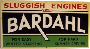 110 Bardahl Oil And Gas Porcelain Sign
