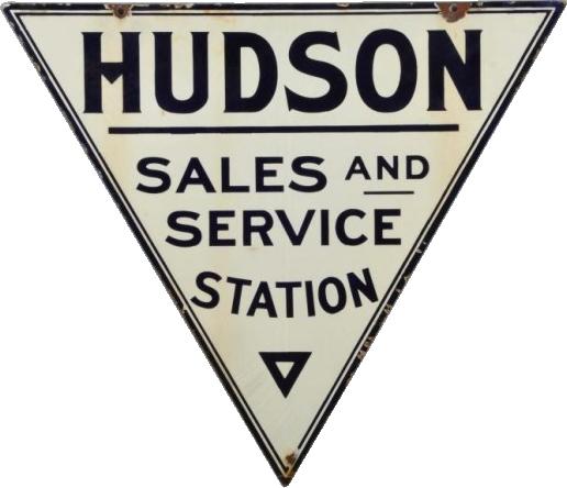 111 Hudson Sales And Service Station Porcelain Sign