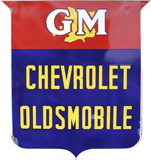 116 GM Chevrolet Oldsmobile Porcelain Sign 1