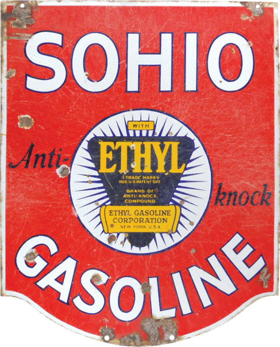 117 Sohio Ethyl Gasoline Porcelain Sign 1