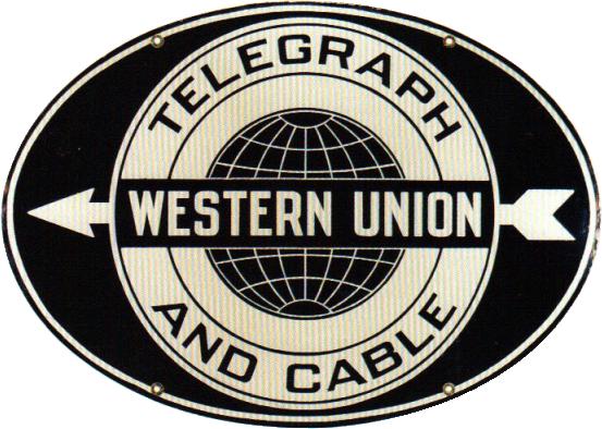 118 Western Union Telegraph Porcelain Sign 1