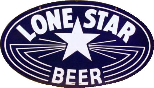 12 Lone Star Beer Porcelain Sign 2