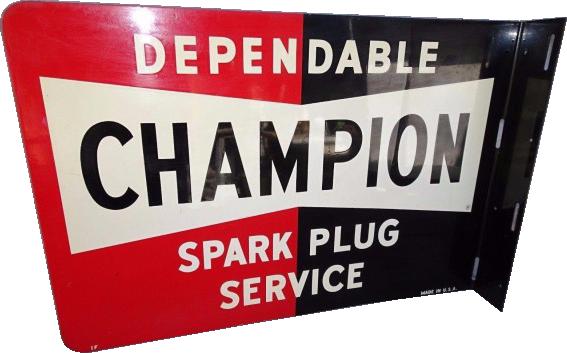 126 Champion Dependable Spark Plugs Porcelain Sign