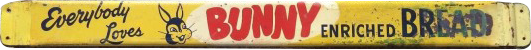 127 Bunny Bread Door Push Porcelain Sign