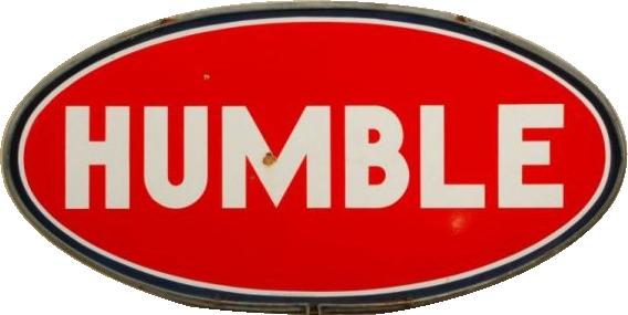 128 Humble Porcelain Sign 1