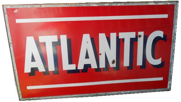 131 Atlantic Gas Station Porcelain Sign 1