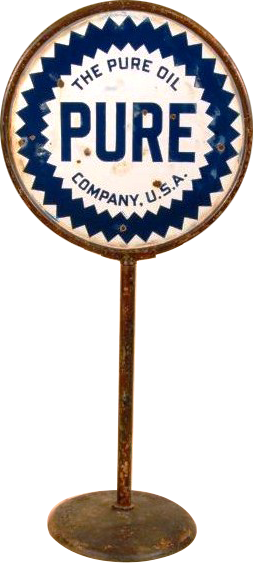 133 Pure Oil Lollipop Sign 1