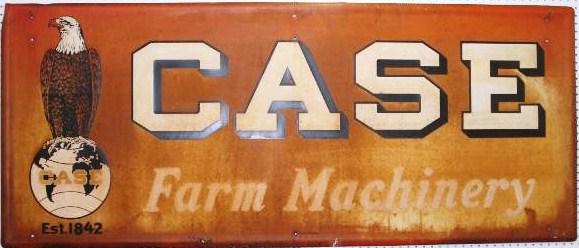 137 Case Farm Machinery Porcelain Sign 1