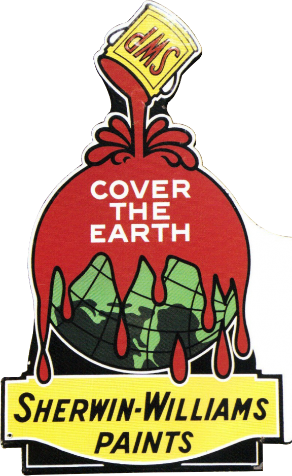 139 Sherwin Williams Cover The Earth Porcelain Sign 1