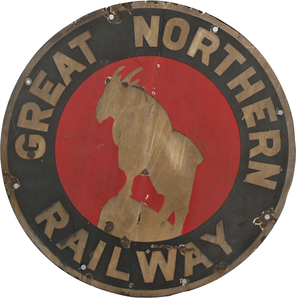 140 Great Northern Railway Porcelain Sign 1
