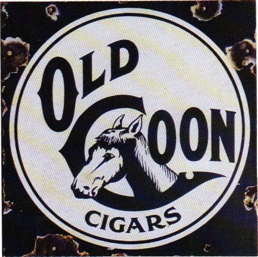 144 Old Coon Cigar Round Porcelain Sign 1