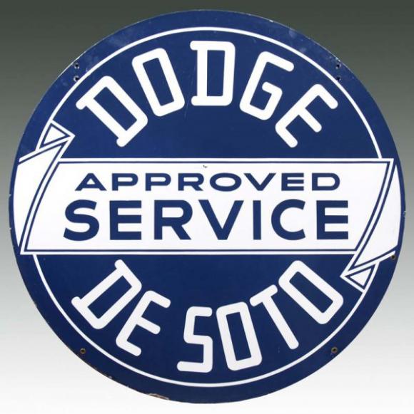 15 Dodge And DeSoto Service Porcelain Sign
