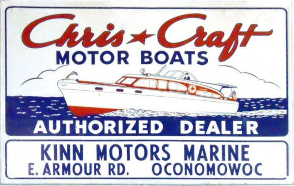 152 Chris Craft Motor Boats Porcelain Sign 2