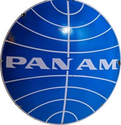 158 Pan Am Porcelain Sign 1