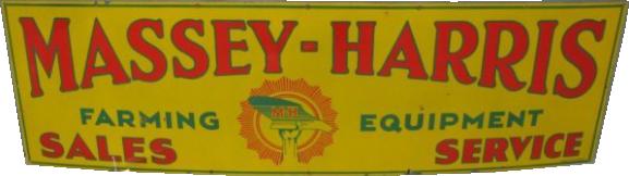 159 Massey Harris Farming Equipment Porcelain Sign 1
