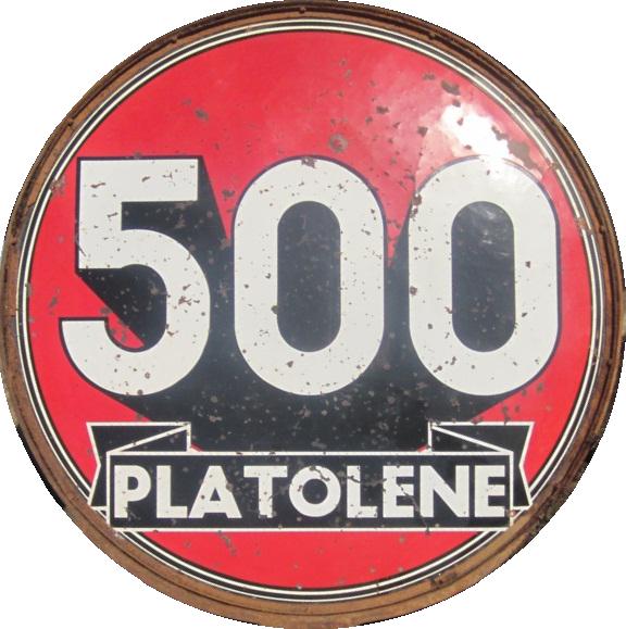 16 Platolene 500 Porcelain Sign 1