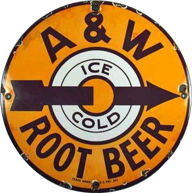 161 A And W Root Beer Porcelain Sign 1