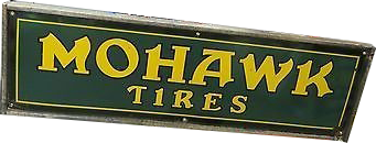 164 Mohawk Tires Green And Yellow Porcelain Sign