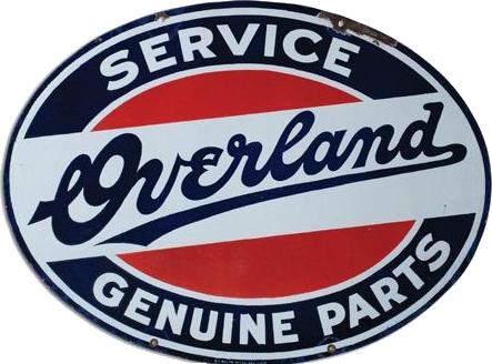 17 Overland Genuine Parts Porcelain Sign 1