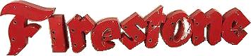 181 Firestone Individual Neon Letters Porcelain Sign