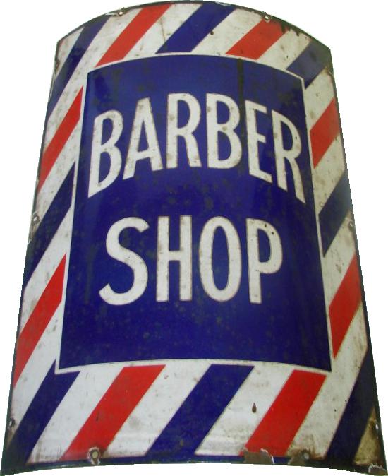 186 Barber Shop Porcelain Sign 1