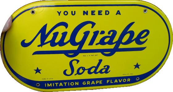 188 NuGrape Soda Porcelain Sign 1
