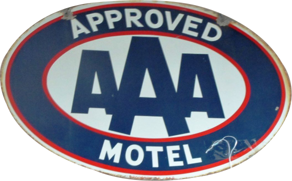 189 AAA Approved Motel Porcelain Sign