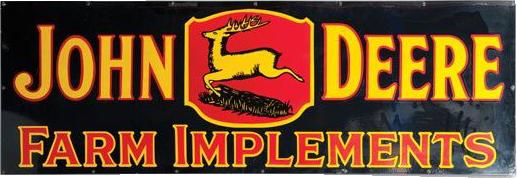 190 John Deere Farm Implements Porcelain Sign 1