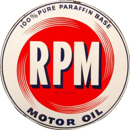 192 RPM Motor Oil Porcelain Sign 1