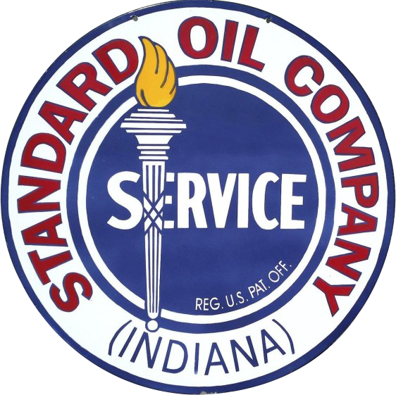 198 Standard Oil Company Service Torch Porcelain Sign