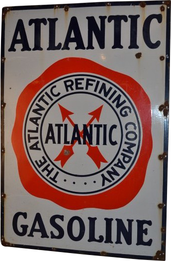 203 Atlantic Gasoline Porcelain Sign 1