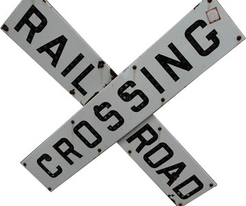 204 Official Railroad Crossing Porcelain Sign