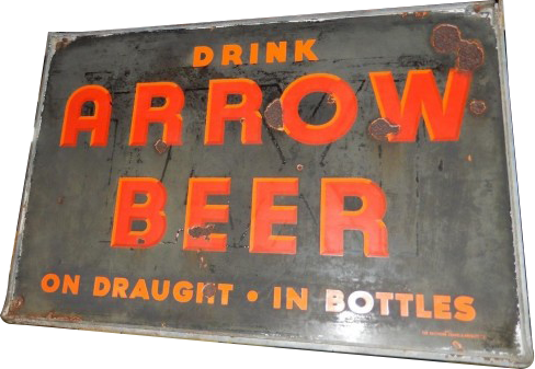 209 Arrow Beer Porcelain Sign
