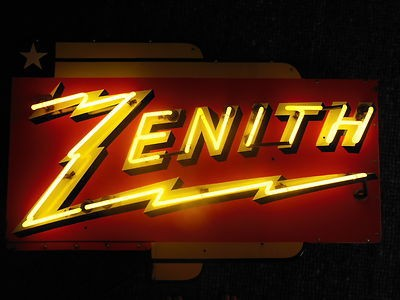 212 Zenith Bolt Neon Porcelain Sign 1
