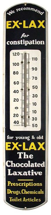 218 Ex Lax Thermometer