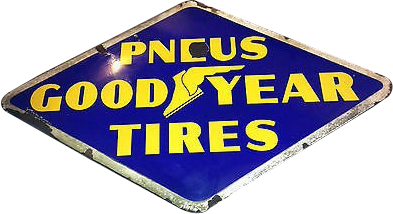 219 Goodyear Tires PNEUS Porcelain Sign