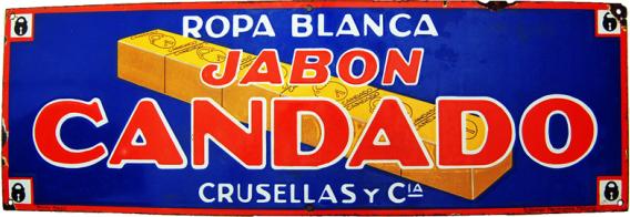 225 Cuba Soap Jabon Candado Porcelain Sign 1