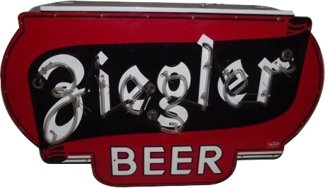 226 Ziegler Beer Neon Porcelain Sign