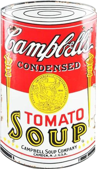 227 Campbells Tomato Soup Porcelain Sign 1