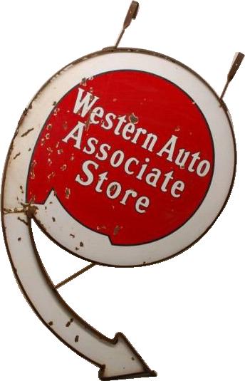 23 Western Auto Arrow Porcelain Sign 1