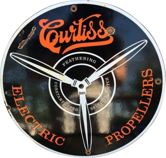 231 Curtiss Electric Propellers Porcelain Sign
