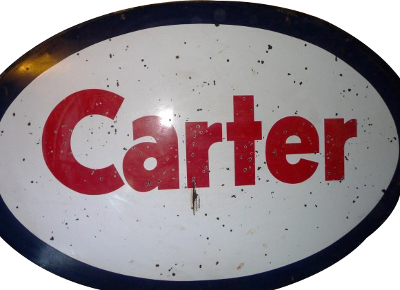 238 Carter Gas And Oil Oval Porcelain Sign