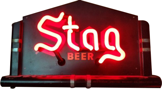 239 Stag Beer Neon Porcelain Sign