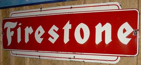 24 Firestone Porcelain Sign