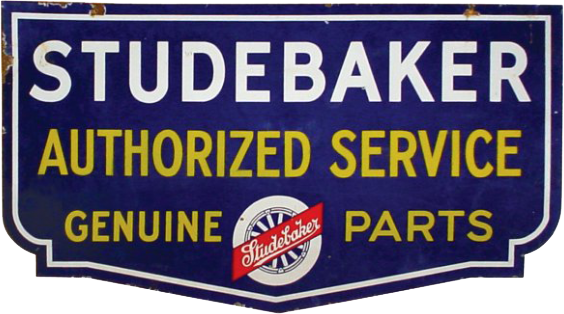 241 Studebaker Authorized Service Genuine Parts Porcelain Sign 1