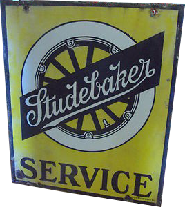 242 Studebaker Service 1920s Wheel Porcelain Sign